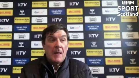 Kilmarnock manager Tommy Wright