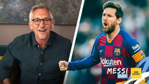 Gary Lineker and Lionel Messi