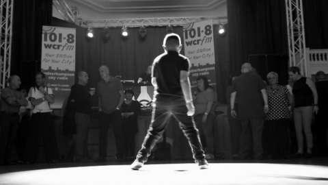 Charlie on the dance floor