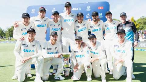 New Zealand with the ANZ series trophy