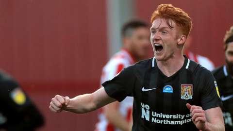 Northampton striker Callum Morton