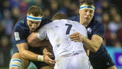 James Ritchie and Hamish Watson in action for Scotland
