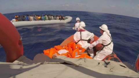 Migrant boat rescue
