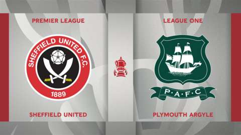 Sheffield United v Plymouth Argyle badge graphic