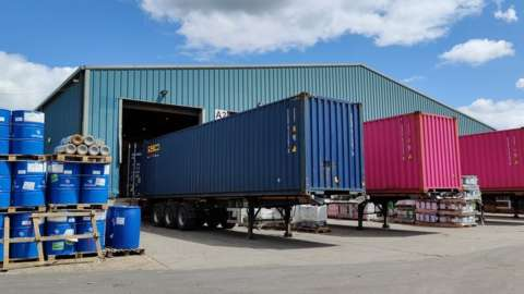 Lorry park at Youngs Transportation and Logistics
