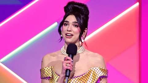 Dua Lipa at Brit awards