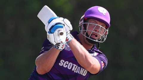 Scotland batter George Munsey hit 67 from 41 balls