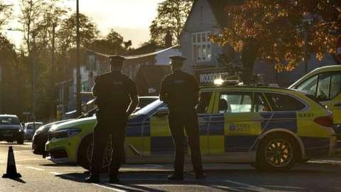 Police cordon in Leigh-on-Sea