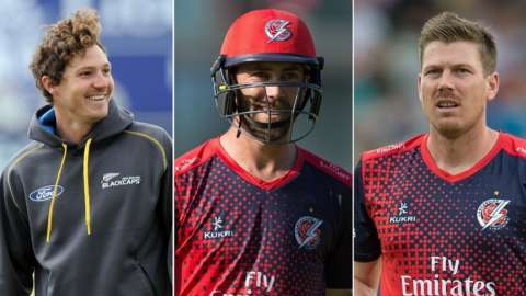 BJ Watling, Glenn Maxwell and James Faulkner