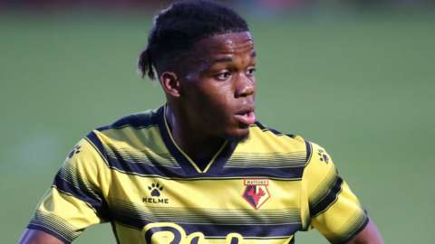 Dapo Mebude in action for Watford