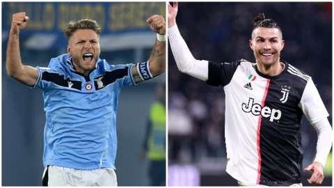 Ciro Immobile and Cristiano Ronaldo
