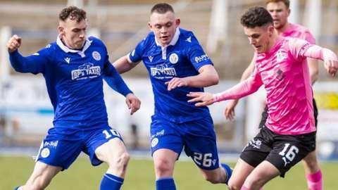 Inverness' Cameron Harper evades Qots' Ciaran Dickson
