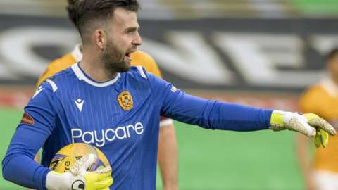 Motherwell goalkeeper Liam Kelly