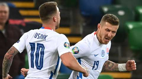 Jaraj Kucka scored for Slovakia in the first half