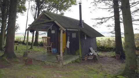 Hut on the Falkland Estate in Fife