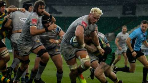 Jean-Luc du Preez helped Sale outscore Northampton on tries but ended on the losing side