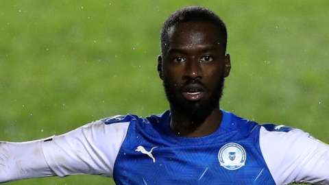 Mo Eisa in action for Peterborough United