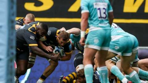 Wasps skipper Brad Shields' first-half try on his 50th appearance encapsulated his side's dominance up front