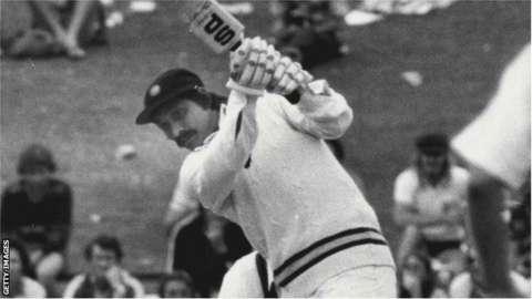 Chetan Chauhan in action against Australia in 1978