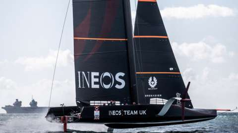 The Ineos Team UK boat