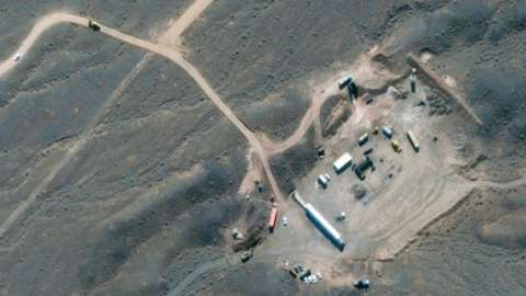 A satellite image shows Iran's Natanz nuclear facility in Isfahan, Iran, 21 October 2020