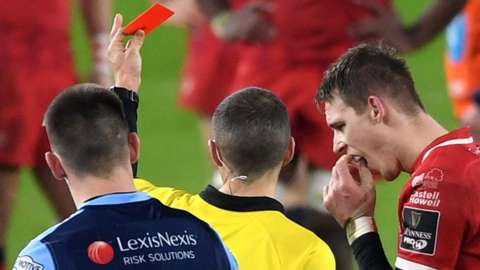 Liam Williams is sent off