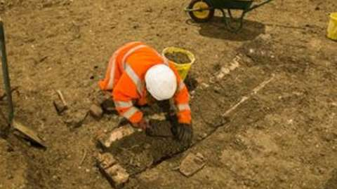 St Mary's Church archaeological dig near Stoke Mandeville