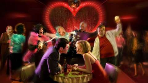 Promotional image for TV show Gavin and Stacey showing the cast members