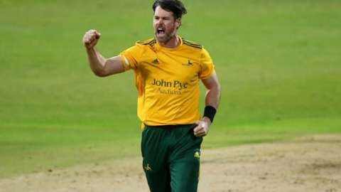 Dan Christian will serve a one-game ban if any Notts players breaches the ECB's onfield disciplinary code in the next 12 months