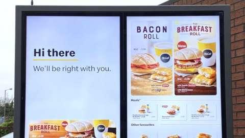 McDonald's digital menu sign