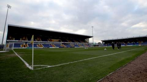 General view of Mansfield Town home ground One Call Stadium on Quarry Lane, Mansfield