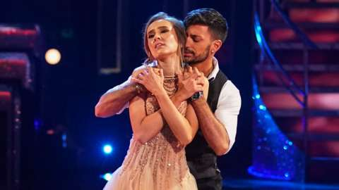 Rose and Giovanni on Strictly Come Dancing