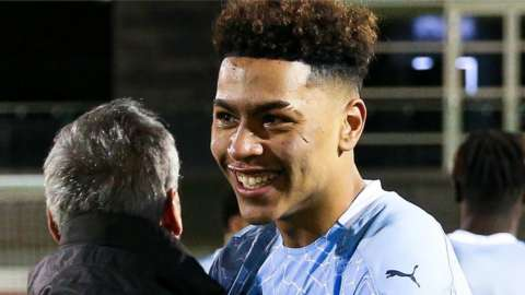 Morgan Rogers was part of the Manchester City side that won the 2019-20 FA Youth Cup, beating Chelsea in the final