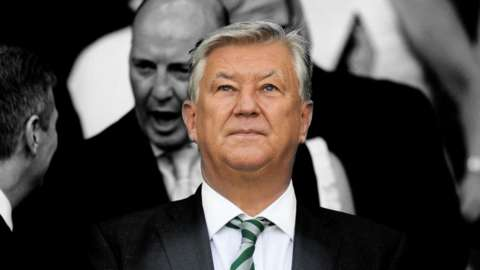 Outgoing Celtic chief executive Peter Lawwell