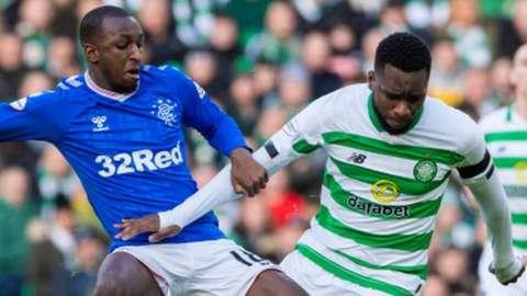 Rangers' Glen Kamara and Celtic's Odsonne Edouard