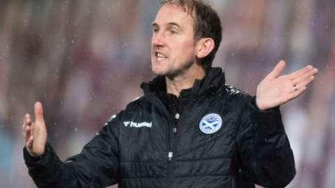 Ayr United manager Mark Kerr