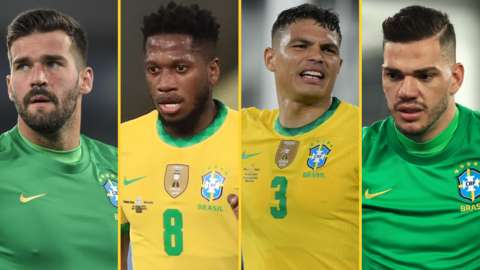 Alisson, Fred, Thiago Silva, Ederson