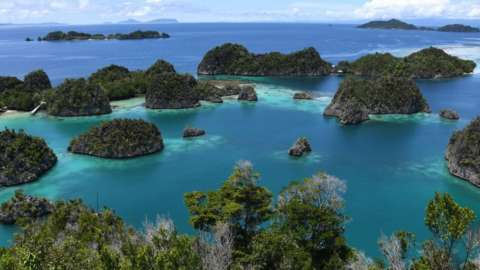 Raja Ampat -- which means Four Kings in Indonesian, in Indonesia's far eastern Papua.