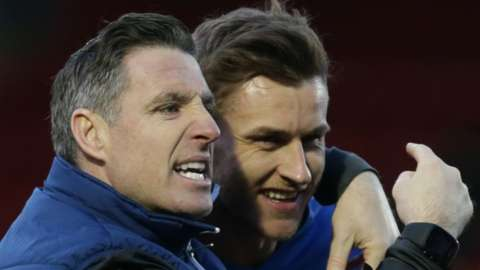 Macclesfield Town manager Mark Kennedy