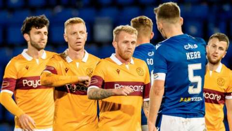 Motherwell and St Johnstone players