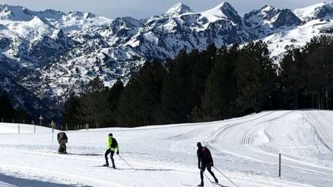 The holidays are starting and French skiers are adapting to cross-country skiing because of coronavirus restrictions