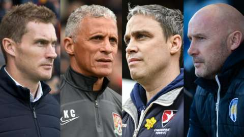 Matt Taylor, Keith Curle, Michael Duff and John McGreal