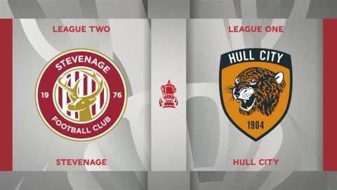 Stevenage v Hull City badge graphic