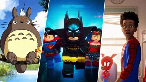 Images from My Neighbour Totoro, Lego Batman and Spider-man