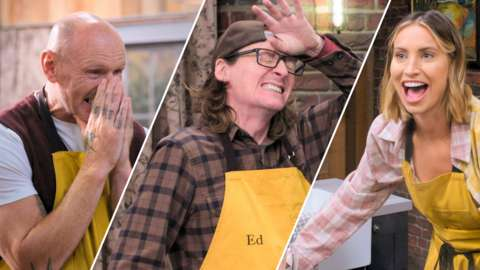 Bst Home Cook contestants Gareth Thomas, Ed Byrne and Ferne McCann