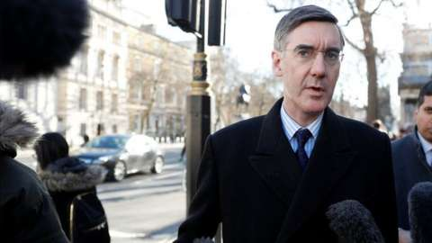 Jacob Rees-Mogg is questioned by Newsnight's Nick Watt on Whitehall