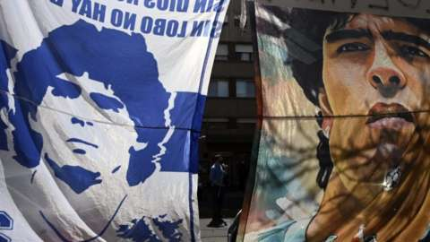 Diego Maradona flags