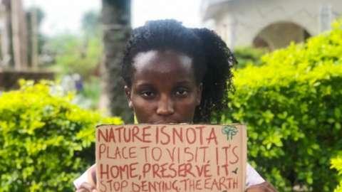 Ugandan activist Vanessa Nakate