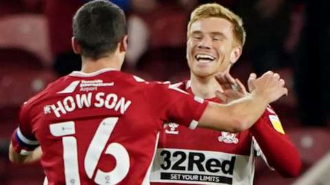 Duncan Watmore celebrates scoring for Middlesbrough