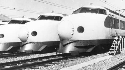 Japan's first bullet trains
